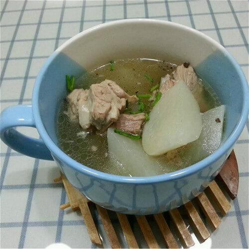 虫草花萝卜排骨汤