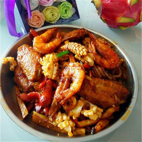 洋葱炒翅尖虾