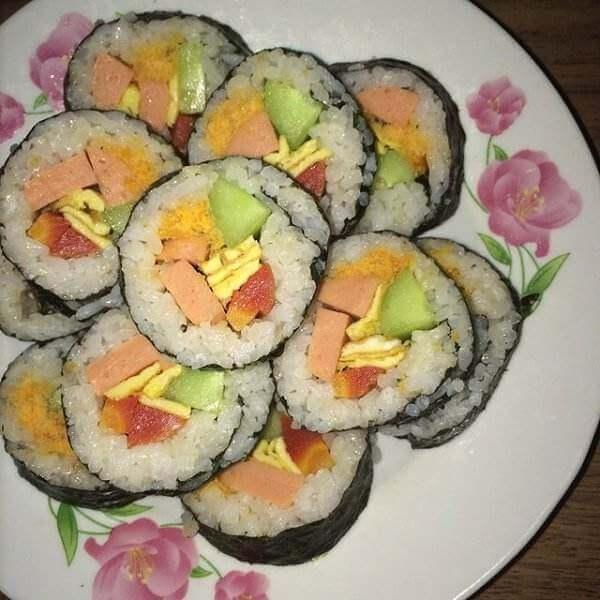 麻酱紫菜包饭