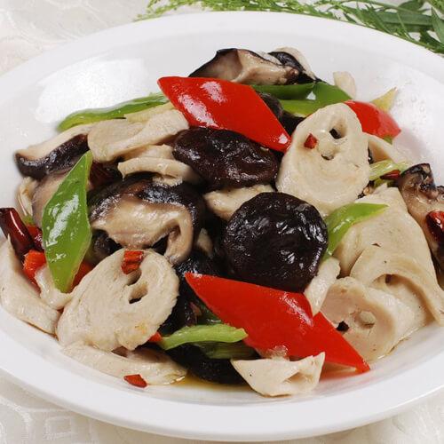 让人怀念的蒜香海米炒香菇