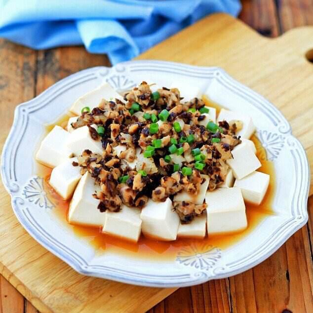 芽菜蒸豆腐