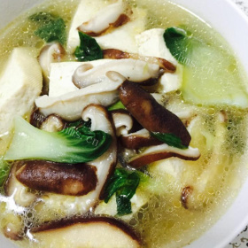 白菜香菇炒瘦肉