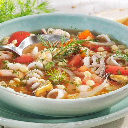 自制秋葵海鲜汤