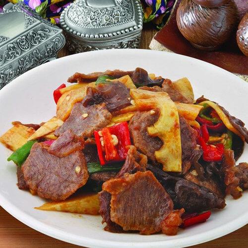 美味的酸笋牛肉