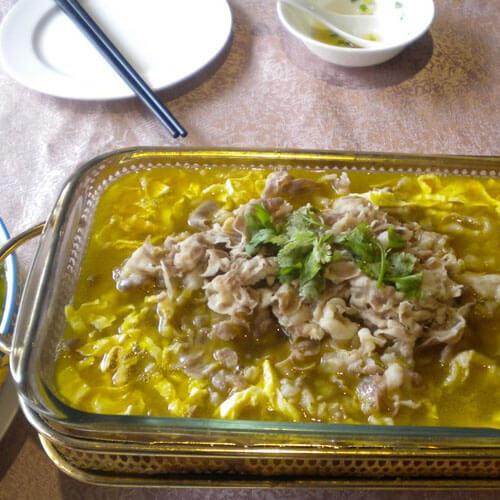 酸辣羊肉汤锅的做法