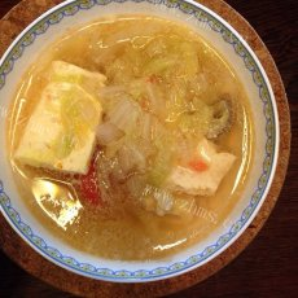 美味白菜豆腐汤