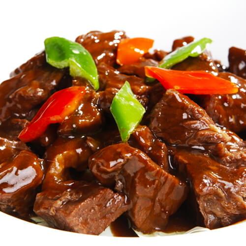 鲜花椒烹汁小牛肉