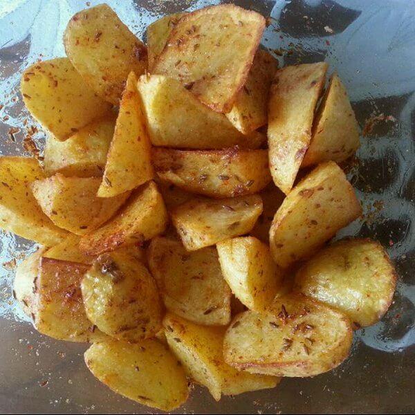美味的炸土豆小吃