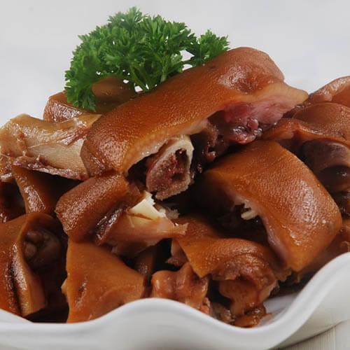 美味的五香卤猪蹄