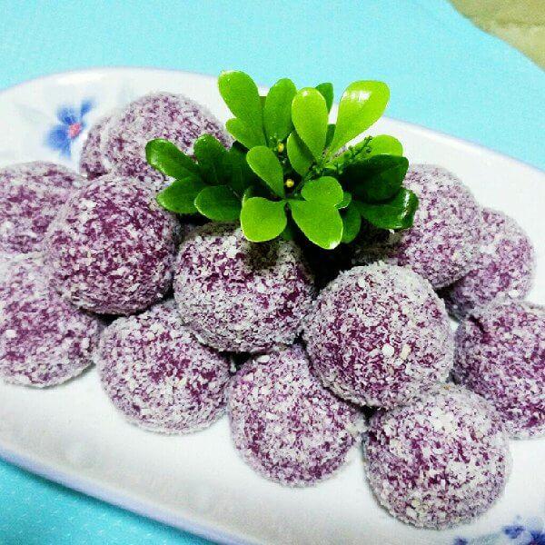 糯米紫薯球