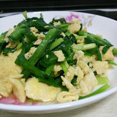 韭菜心炒鸡蛋