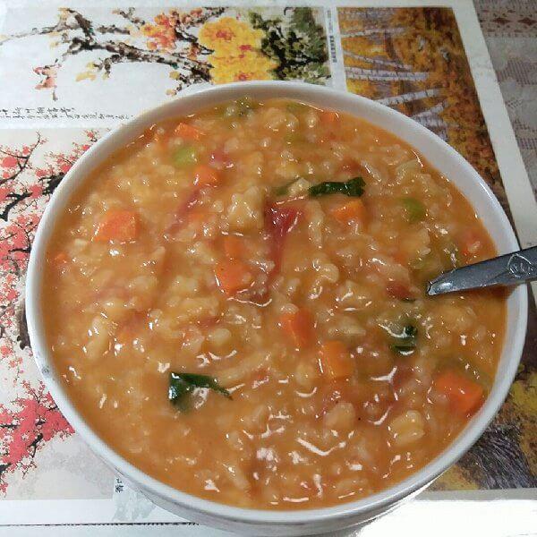 自制胡萝卜疙瘩汤