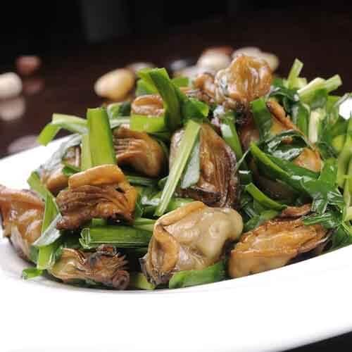 韭菜炒生蚝
