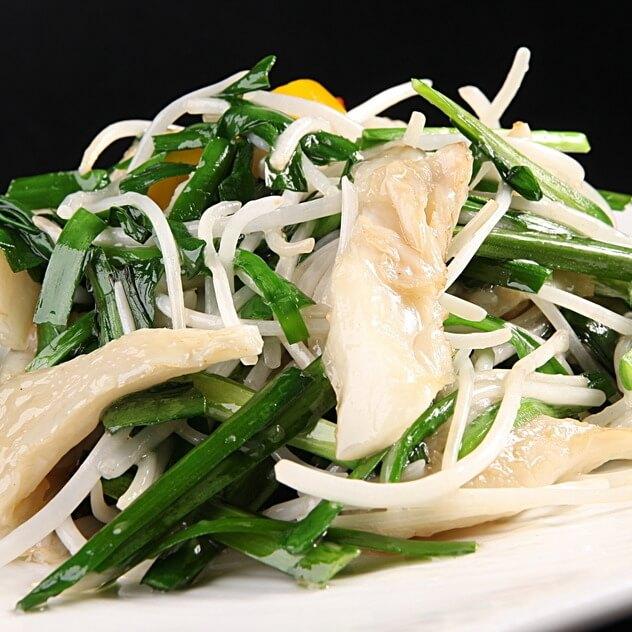 美味韭菜炒蘑菇