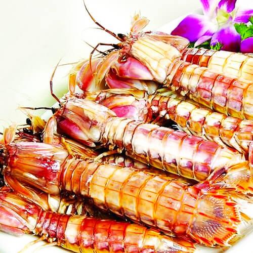 美味的椒盐皮皮虾