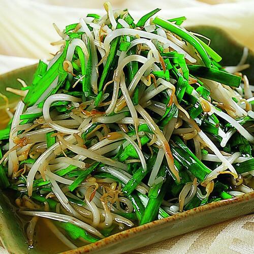 特色美食-韭菜炒豆芽