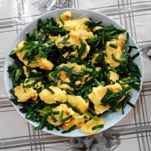 好吃的韭菜香菇炒鸡蛋