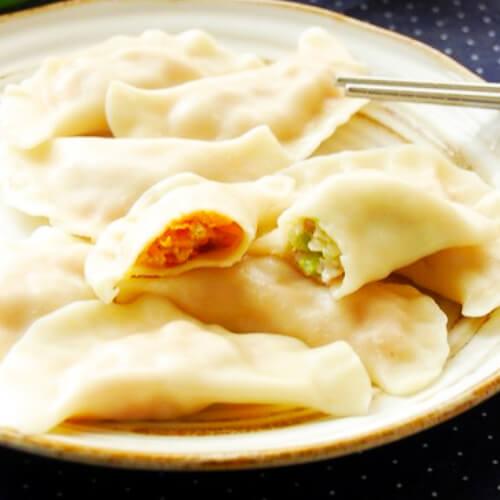 自己做的韭菜猪肉饺子