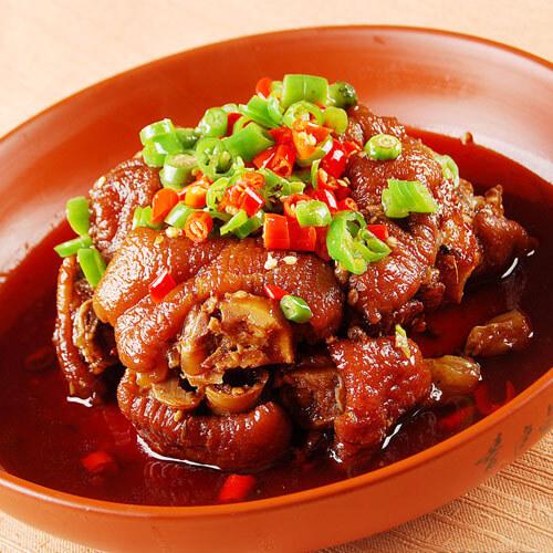 咸豆豉蒸猪蹄的做法