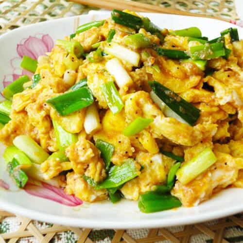 最简单的菜——青黄炒蛋