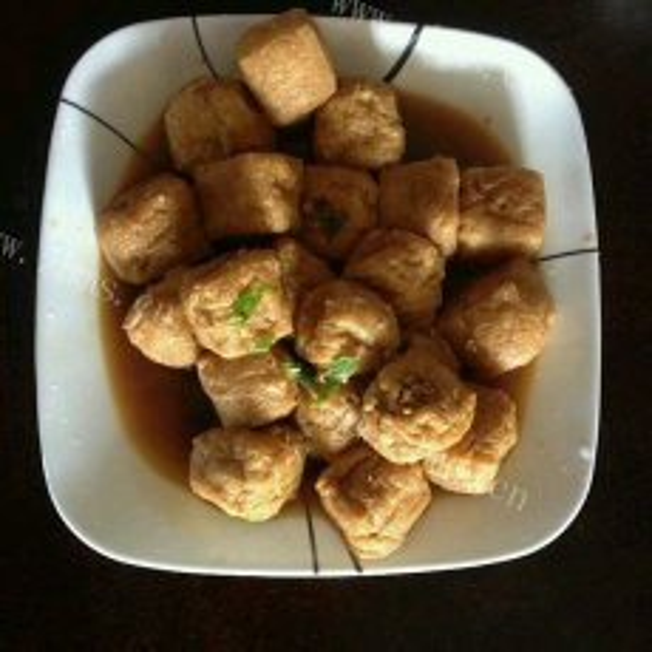 自制油豆腐镶肉