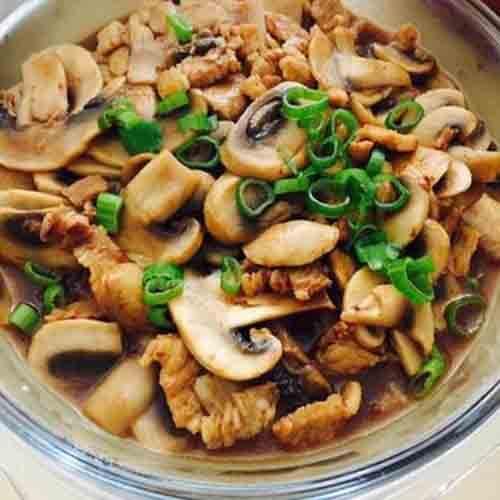 家常猪肉炒蘑菇的做法