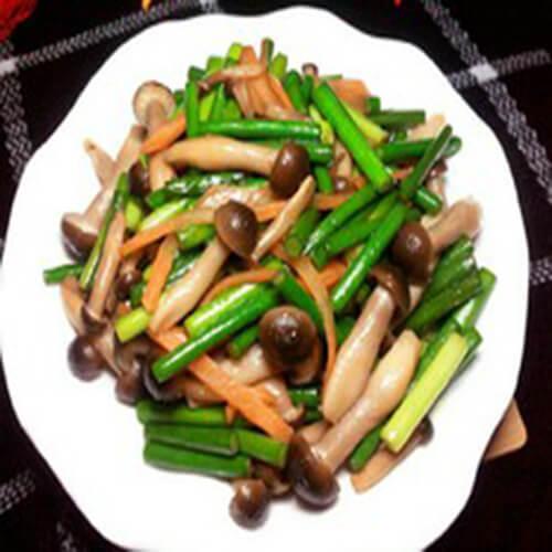 香菇炒蒜苔