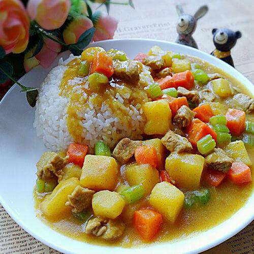 美味的咖喱土豆猪肉的做法