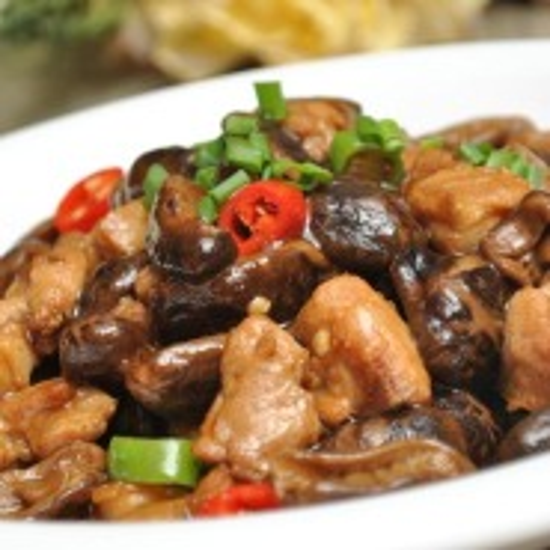 蒜苔炒香菇