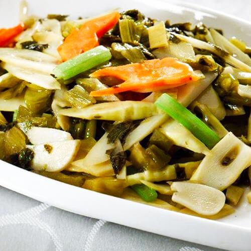 自制酸菜笋