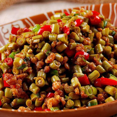 美味的辣炒豇豆