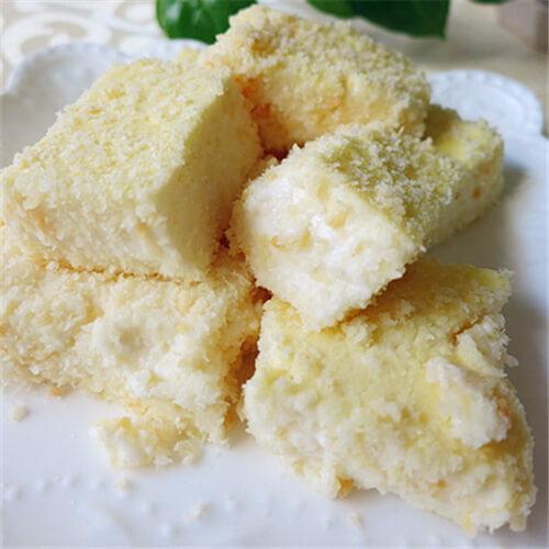 西式甜点椰香奶冻糕