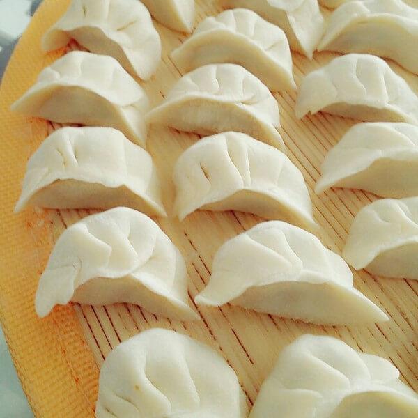 美味的猪肉香菇韭菜饺子