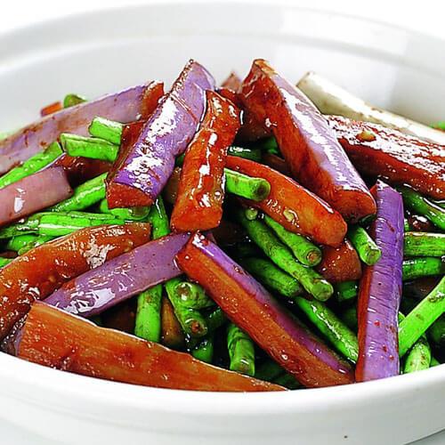 美味的茄子烧豇豆
