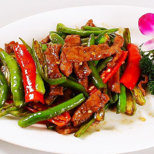 家常生牛肉炒青椒的做法
