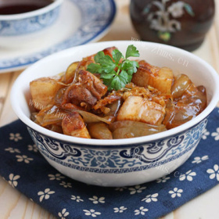 猪肉土豆炖粉条的做法