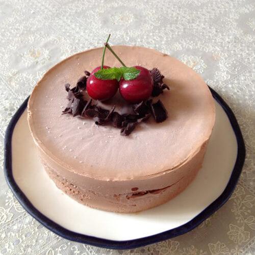 满口清香的巧克力冰激凌蛋糕