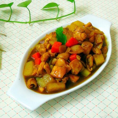 咖喱土豆鸡丁的做法