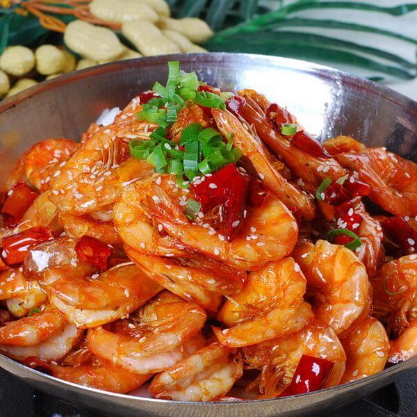 美味的香辣虾香锅