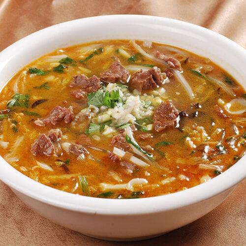 美味的猪肉粉汤的家常做法