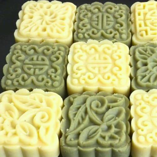 家常的自制绿豆糕