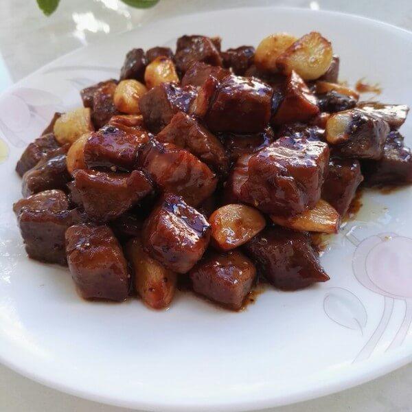 美味的牛肉粒