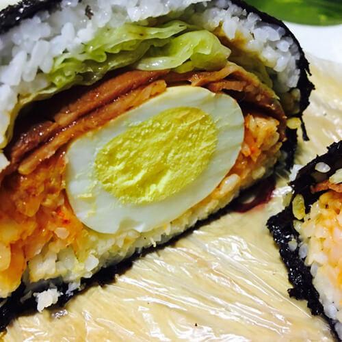 紫菜海鲜捲