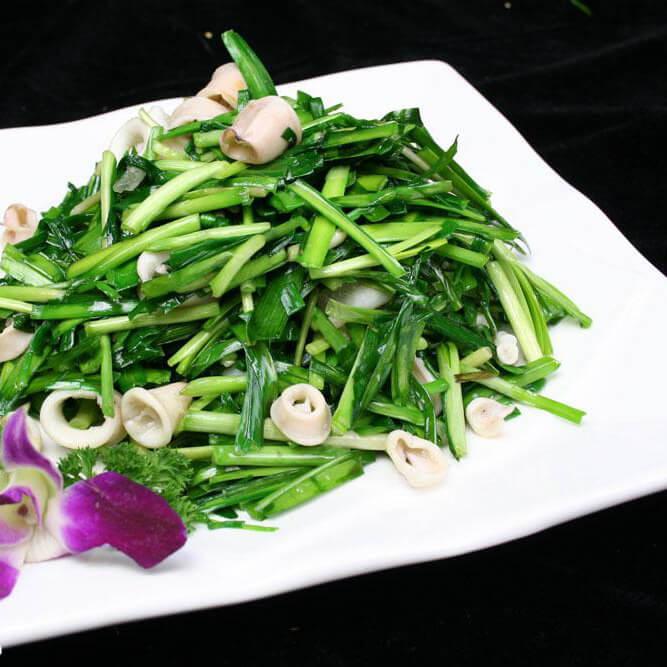 海兔炒韭菜