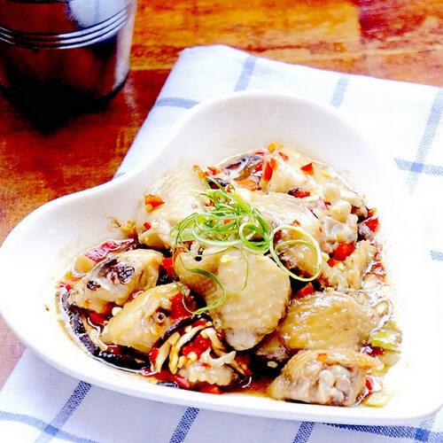 美味的香菇蒸鸡翅的做法