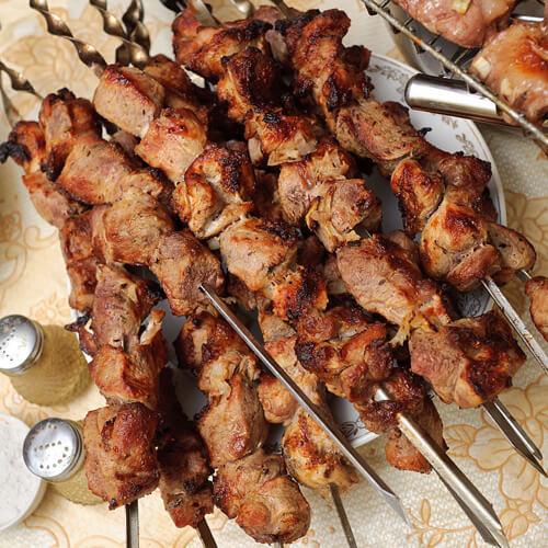 舌尖美味的焖烤羊肉串