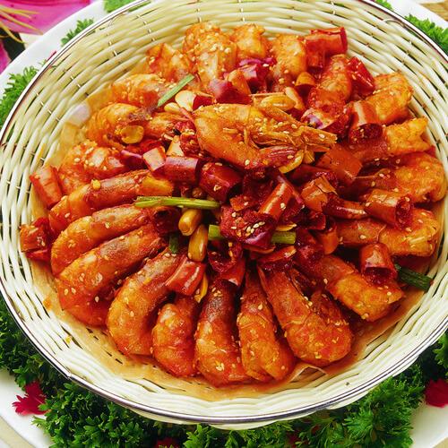 美味的川味香辣虾