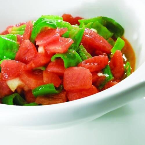 圆白菜炒西红柿