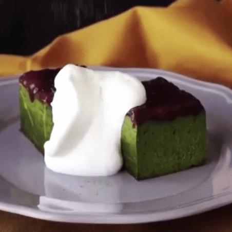 午后甜点之红豆青汁糕
