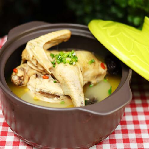 家常豌豆鸡片浓汤